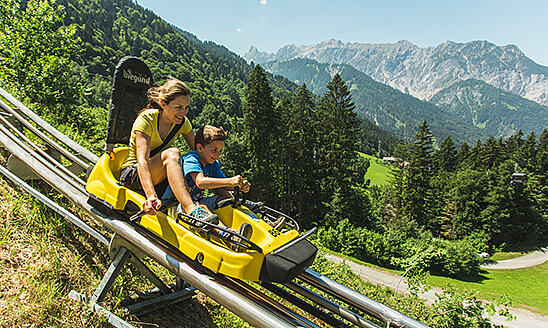 Summer toboggan runs & alpine coasters